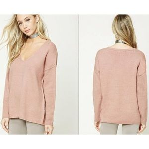 ✨2 for $35✨Forever21 pink knit sweater size medium